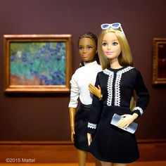 Grab a friend and go to a museum! We're visiting @thegetty galleries today, there's so much to explore!  #barbie #barbiestyle