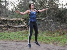 Geordie Shore's Marnie Simpson working out in park...