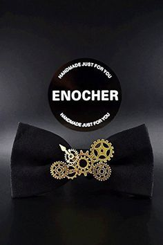 Black Suede Steam Punk Alloy Gear Bow Tie,Men Bow Tie,Self Tie BowTie,Bow Tie For Men,Gentleman,Business,Wedding,Party,Cool,Punk,Personality. Black suede steam punk alloy gear bow tie,simplicity and texture, so you add more charm. To show you unique.Whether you are in for any occasion, you are the focus.You deserve to have. Bow tie is becoming more a popular accessory. makes your look unique, because every bow tie has its own special color and texture that will differentiate it from each...