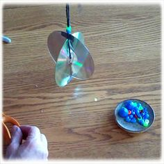 Recycled Cds Into Sun Catcher To Keep Birds Off Your Porch