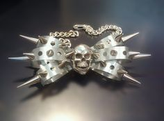 not into wearing skulls but this metal bow tie is pretty darn cool. Maybe a metal rose would be nice