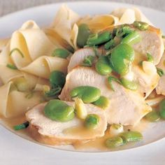 Sautéed #Chicken Breasts with Fava Beans and Green Garlic