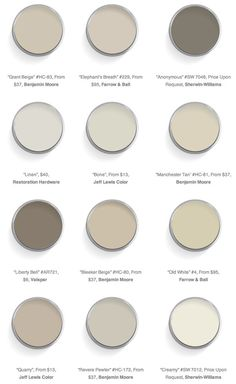 "warm neutral ""greige"" paint colors // Domaine"