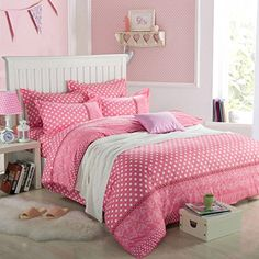 Little Pure White Polka Dot with Grey Background Bedding Sets Cheap Bedding Sets, King Bedding Sets, Comforter Sets, Girls Duvet Covers, Bed Covers, Duvet Cover Sets, Linen Bed Sheets, Bed Linens, Single Quilt