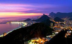 Beautiful Rio De Janeiro sunset.