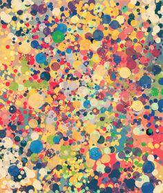 gimpで描いた抽象画『ドット』 : シュールな絵画の抽象画の油絵奮闘記