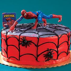 Idea for Riley.Image Detail for - Spiderman Birthday Party Ideas - Spiderman Party Supplies Spiderman Birthday Cake, Superhero Cake, Boy Birthday, Birthday Cakes, Birthday Stuff, Birthday Wishes, Happy Birthday, Spiderman Party Supplies, Cakes For Boys