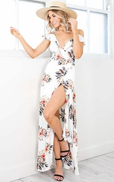 You Like Me Too Much maxi dress in white floral  SHOWPO Fashion Online