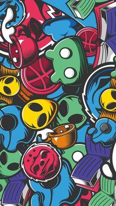 Cool Graffiti Wallpaper for iPhone - Siteismi Cartoon Wallpaper, Graffiti Wallpaper Iphone, Pop Art Wallpaper, Graffiti Art, Graffiti Doodles, Best Graffiti, Beste Iphone Wallpaper, Wallpaper Iphone Cute, Supreme Iphone Wallpaper
