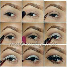 Homecoming Make-up with light green and sparkly eye via  Beautylish.com