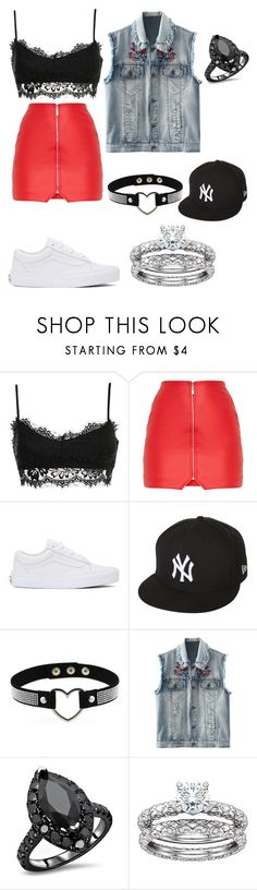 """K pop"" by thatimr ❤ liked on Polyvore featuring Vans and New Era"