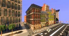 Minecraft Shops, Modern Minecraft Houses, Minecraft City Buildings, Minecraft Houses Survival, Minecraft Houses Blueprints, Minecraft Plans, Minecraft Tutorial, Minecraft Architecture, Cool Minecraft