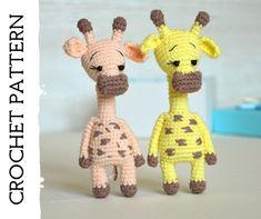 Crochet pattern PDF file amigurumi giraffe DIY easy crochet | Etsy Crochet Flower Tutorial, Crochet Flower Patterns, Crochet Toys Patterns, Stuffed Toys Patterns, Crochet Designs, Crochet Flowers, Amigurumi Patterns, Crochet Ideas, Knitting Patterns
