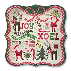 Merry & Bright Christmas Large Plates 23cm