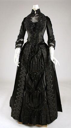 Stunning Gown! Dress, 1887,American, silk, Label: White Howard...