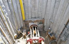 Tasked with tunneling under California's Santa Ana River riverbed, D.J. Scheffler crew members drilled two shafts using continuous flight auger (CFA) secant wall technology. This effort was part of the Santa Ana River Interceptor Relocation Project spearheaded by the Metropolitan Water District of Southern California.