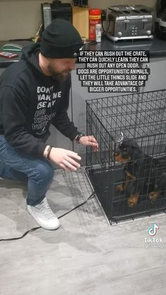 Puppy Training Tips, Crate Training Puppies, Training Your Dog, Dog Training Videos, Teach Dog Tricks, Baby Dogs, Doggies, Puppy Crate, Puppies Tips