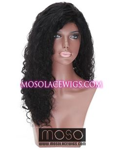 "18"" Curly Wave #1 full lace human hair wigs, Curly Wave, Jet Black - www.mosolacewigs.com  18"" Curly Wave #1 full lace human hair wigs, Curly Wave, Jet Black"