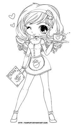 free printable chibi coloring pages for kids coloring book