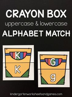 FREE Crayon Box Alphabet Match - this is such a fun back to school activity to help preschool, prek, and kindergarten age kids match uppercase letters with lowercase letters! These are great for literacy centers, homeschool, and home preschool