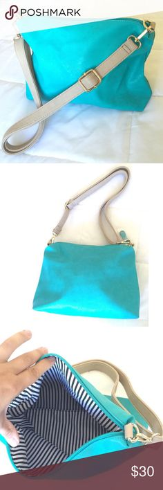 Turquoise Purse  Beautiful Turquoise Purse!  Medium sized, wonderful everyday purse! The colors work perfectly together for a chic look. NWOT. Bags