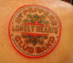 Beatles tattoo - Not very well done but a cool idea