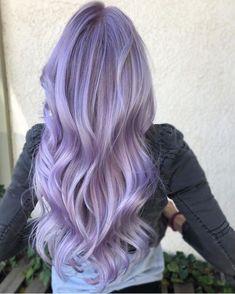 Lavender Hair Colors, Gold Hair Colors, Hair Color Purple, Hair Dye Colors, Cool Hair Color, Purple Colors, Pelo Color Morado, Light Purple Hair, Pulp Riot Hair Color
