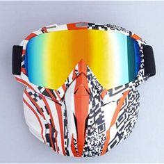 8eb6861e0e Huashao Gafas Todoterreno Casco de Niebla y Viento para Motocicletas al  Aire Libre Bicicleta de travesía