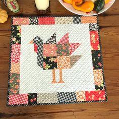Thanksgiving Turkey Table Topper - Mini Quilt