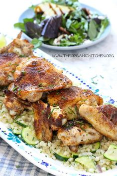 When I used to teach cooking classes, I taught a Moroccan Chicken class that was hugely popular. And why wouldn't it be? Moroccan food is visually stunning, incredibly flavorful and generally speaking, very healthy. This Moroccan Chicken and Cauliflower Rice Platter is no exception! (This post cont
