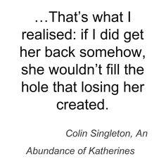 Colin Singleton, An Abundance of Katherines