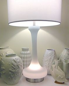 """The End of History - vintage Murano glass lamp attributable to Carlo Moretti.  Lights up from inside.  33.5"""" to top of shade.  Presumably no longer for sale."""