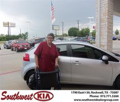 Congratulations to Alvina Walker on the 2013 #KIA #Rio