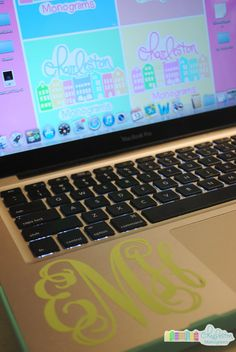 3 inch Vinyl Monogram Decal by CharlestonMonograms on Etsy, $8.00