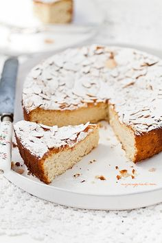 Moje Wypieki | Ciasto migdałowe z ricottą