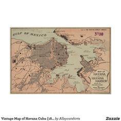 Vintage Map of Cuba 1764 Poster