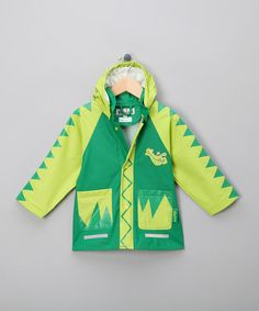 5ed9c33ce991f4 Green Crocodile Raincoat - Infant, Toddler & Kids by Playshoes Rainwear on  #zulilyUK today