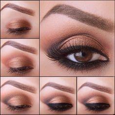 maquillaje color tierra