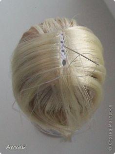 Мастер-класс Вязание крючком Шитьё Меняем прическу или Как сделать парик кукле МК Ленты Нитки фото 11