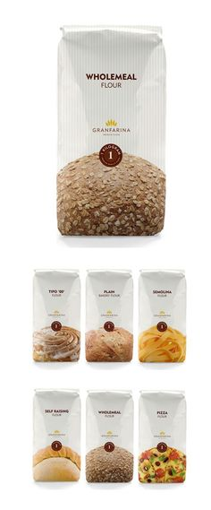 flour product packaging: