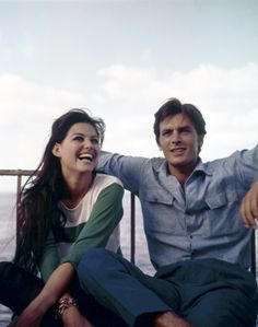 Claudia Cardinale and Alain Delon photographed by Patrice Habans, 1962