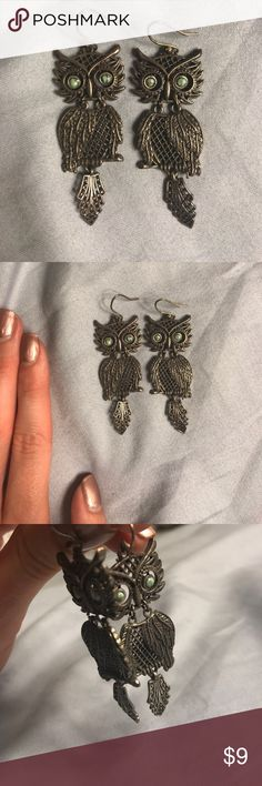 Lucky Brand Owl Earrings Dangly, quirky, Lucky Brand Owl earrings Lucky Brand Jewelry Earrings