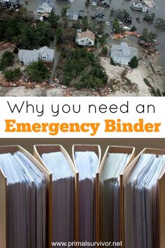 The #1 Thing Missing from Emergency Evacuation Plans. Whether you are a hardcore prepper or just concerned about disaster preparedness, there is something that you absolutely must have ready to go. Sadly, this is also the one thing that most people fail to prepare. It is an Emergency Binder.An Emergency Binder is simply a binder which contains copies of your important documents. It is sometimes called a Bug Out Binder.