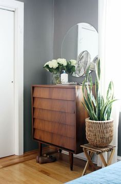 The angled drawer fronts are a subtle detail that makes all the difference