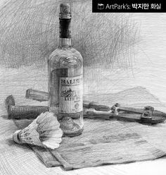How To Draw Library: Still Life Drawing with Pencil - Korea Basic Drawing, Drawing Skills, Drawing Techniques, Drawing Sketches, Pencil Drawings, Art Drawings, Drawing With Pencil, Sketching, Still Life Sketch