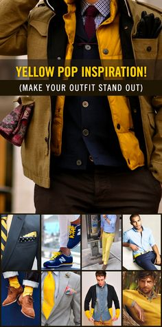 54 Best Yellow Pop! (Style for Men) images   Man style, Man fashion ... 2976f78fb1c2