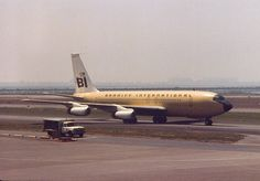 Braniff International Boeing 707-227 El Dorado Super Jet N7073 on the taxiway at New York-JFK, May 1966. (Photo: John F. Ciesla, Copyright: Braniff Flying Colors Collection)