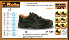 Scarpe basse in pelle idrorepellente antiperforazione BETA