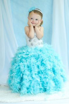 Newborn Size 5 Frozen Elsa Inspired Feather Tutu by krystalhylton, $90.00