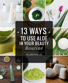 13 Ways to Use Aloe In Your Beauty Routine | http://helloglow.co/13-ways-to-use-aloe-in-your-beauty-routine/